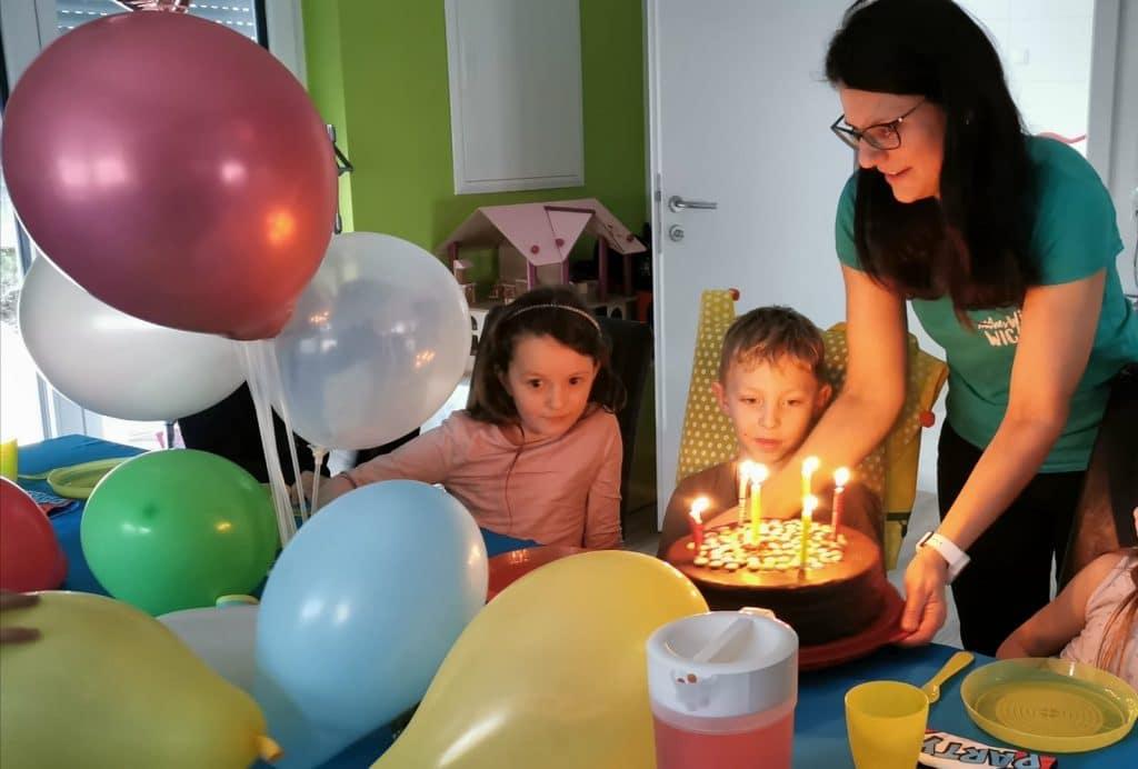 Nadine Zwazl im eigenen Kinderparty-Raum